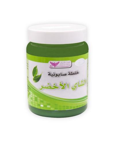 Green tea mixture soap