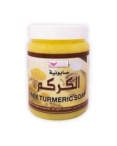 Turmeric mixturs soap