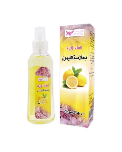 Rose water with lemon extract